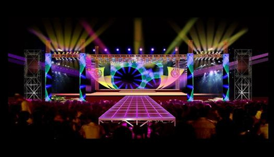 室外舞台灯光效果图